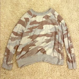Camouflage Round Neck Sweater